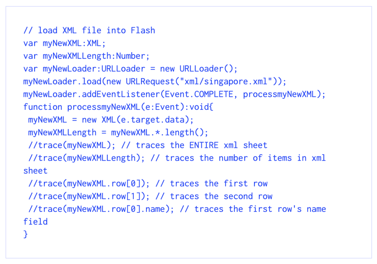 Traversing XML structures in AS3