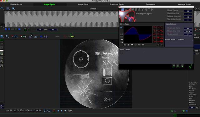 MetaSynth Screenshot Voyager Golden Record