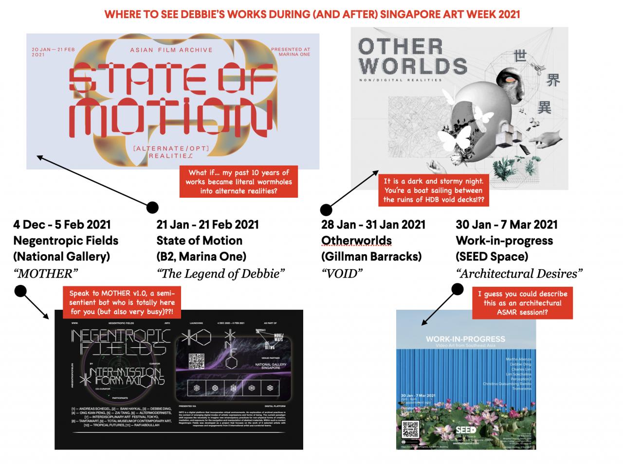 Singapore Art Week 2021: Where to see Debbie's Works