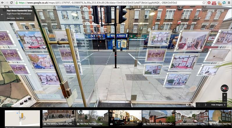 Google Street View Vanishing Point