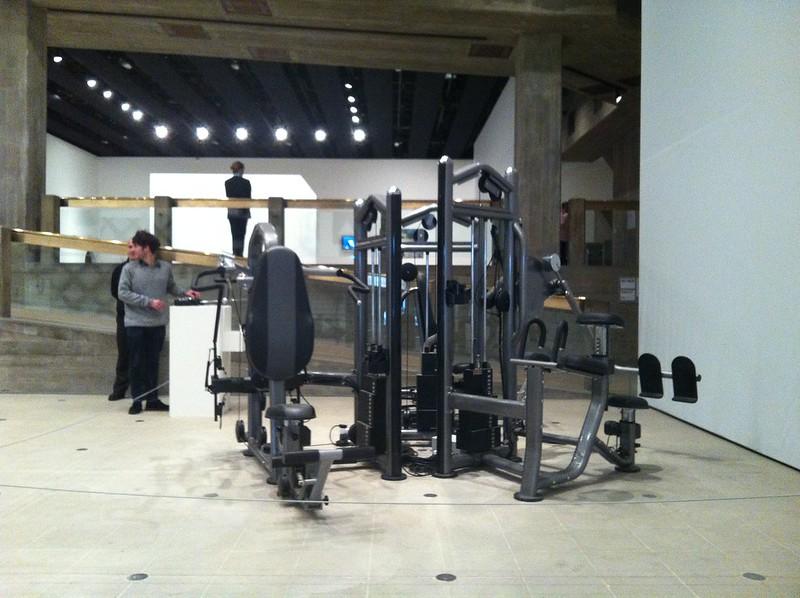 Xu Zhen, Untitled (2007), Gym machine, remote control