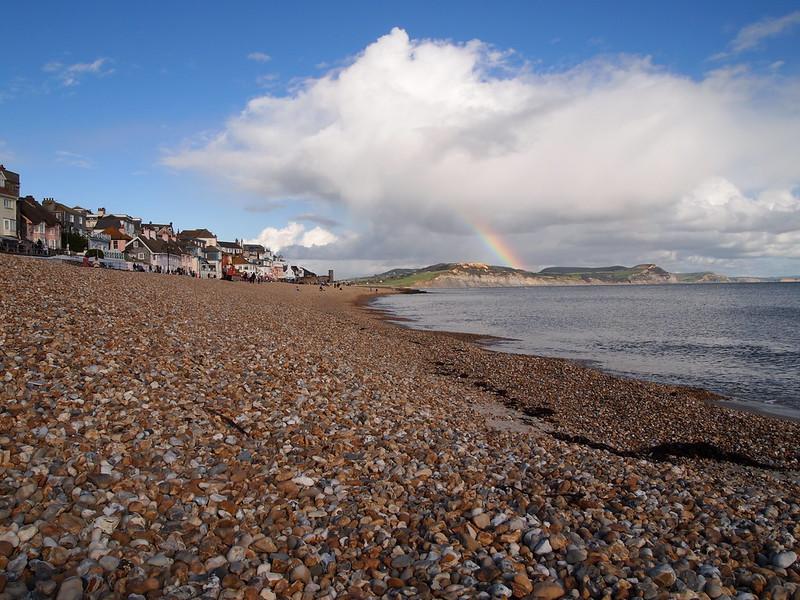 Rainbow on Lyme Bay