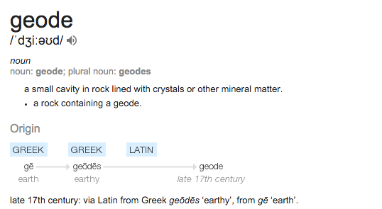 Public Service Notice on Geodes, and Text Complexity